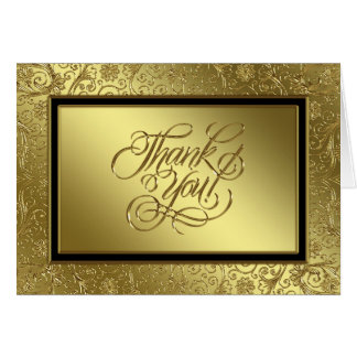 Classic Golden Wedding Anniversary Thank You Card