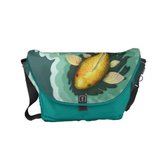 Classic Goldfish Koi Courier Bag