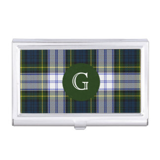 Classic Gordon Dress Tartan Plaid Monogram Business Card Holder