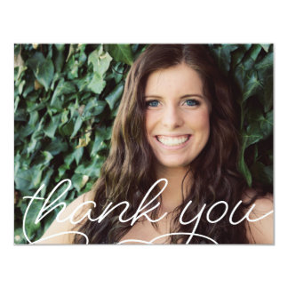 Classic Graduate Photo Thank You Note Card