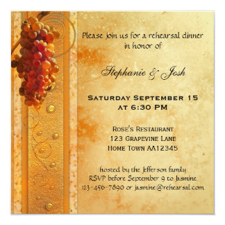Classic Grapes Rehearsal Dinner Invitation
