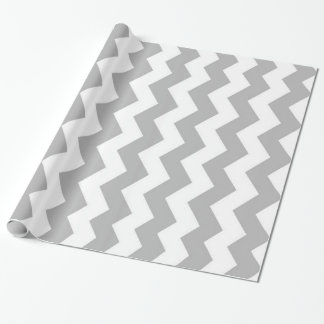 Classic Gray And White Chevron - Wrapping Paper