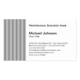 Classic Gray Black Pinstripe Custom Professional Business Card
