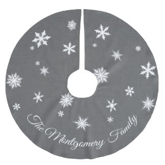 Classic Gray Personalized Tree Skirt