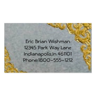 Classic gray with gold trim business card
