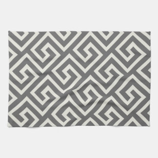 Classic Greek Key Repeating Pattern Tea Towel