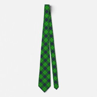 Classic Green and Blue Argyle Plaid Tie