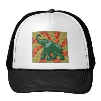 Classic Green Elephant Mesh Hats
