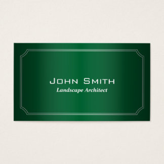 Classic Green Landscape Architect Business Card