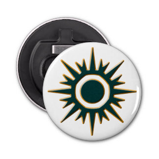 Classic Green Sunburst Bottle Opener