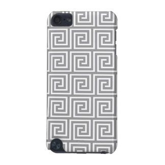 Classic Grey and White Greek Key Pattern iPod Touch 5G Covers