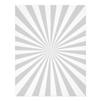 Classic Grey Burst Spinning Wheel Customize This! 21.5 Cm X 28 Cm Flyer