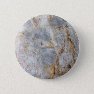 Classic Grey Quartz Crystal 6 Cm Round Badge