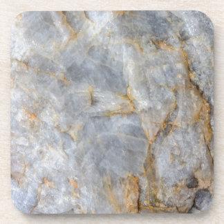 Classic Grey Quartz Crystal Coaster