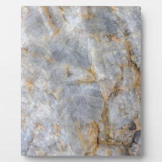 Classic Grey Quartz Crystal Plaque