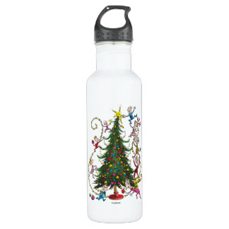 Classic Grinch   Christmas Tree 710 Ml Water Bottle