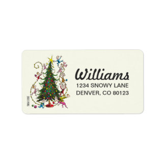 Classic Grinch | Christmas Tree Address Label
