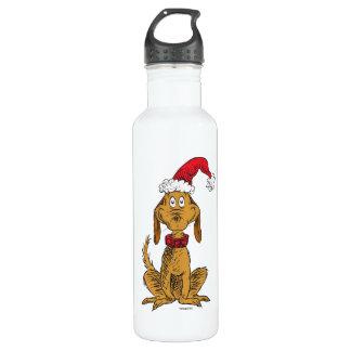 Classic Grinch   Max - Santa Hat 710 Ml Water Bottle