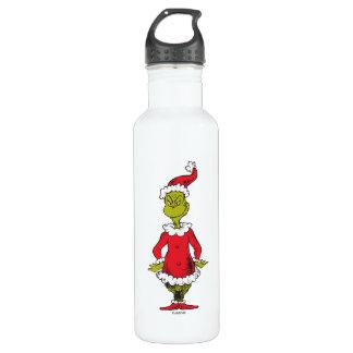 Classic Grinch   Santa Claus 710 Ml Water Bottle