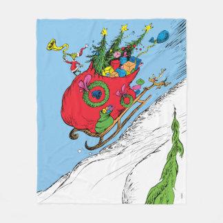 Classic Grinch | The Grinch & Max Runaway Sleigh Fleece Blanket
