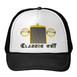 Classic Guy – Shiny chrome grille from classic car Trucker Hat