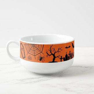 Classic Halloween Collage Soup Mug