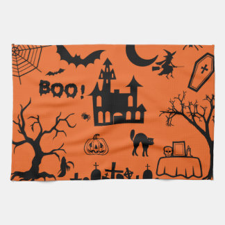 Classic Halloween Collage Towels