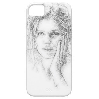 Classic hand drawn portrait case for the iPhone 5