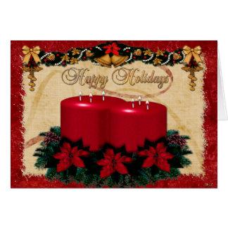 Classic Holiday Deco CUSTOM PHOTO Cards