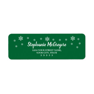 Classic Holidays Christmas Snowflakes Return Address Label