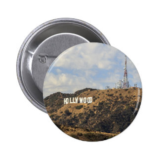 Classic Hollywood Sign 6 Cm Round Badge