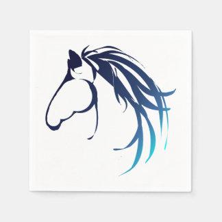 Classic Horse Head Logo in Blue Paper Serviettes