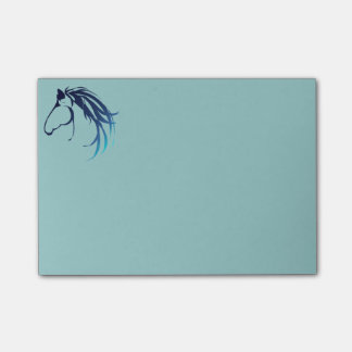 Classic Horse Head Logo in Blue Post-it Notes
