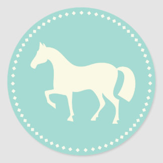 Classic horse silhouette stickers (teal)