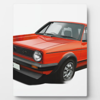 Classic hot hatch display plaque