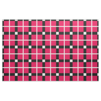 classic hot pink modern plaid pattern squares fabric