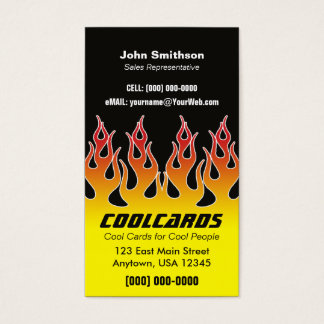 Classic Hotrod Flames Business Card