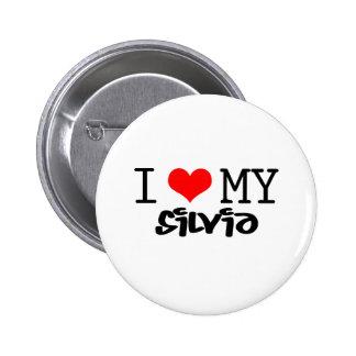 Classic I Love My Silvia design Button