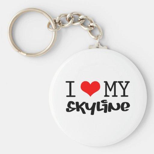 "Classic ""I Love My Skyline"" design Keychain"