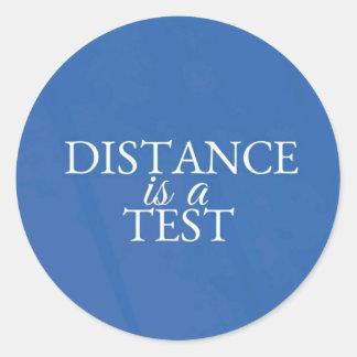 Classic inspirational round blue travel sticker