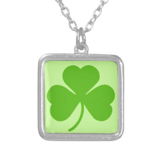 Classic Irish Lucky Shamrock Clover Silver Plated Necklace