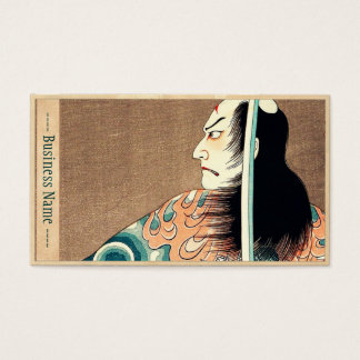 Classic japanese legendary samurai warrior art business card
