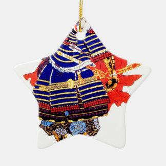 Classic Japanese Samurai Art Japan Ceramic Star Decoration
