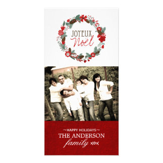 Classic Joyeux Noel Photo Card