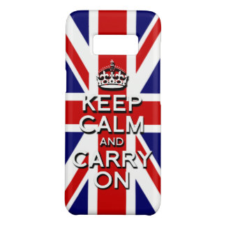 Classic Keep calm on The union Jack Uk Flag Case-Mate Samsung Galaxy S8 Case