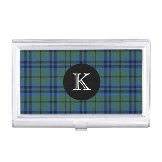 Classic Keith Tartan Plaid Monogram Business Card Holder