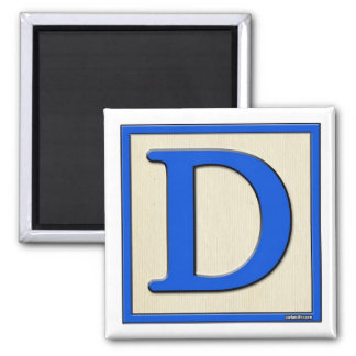 Classic Kids Letter Block D Square Magnet