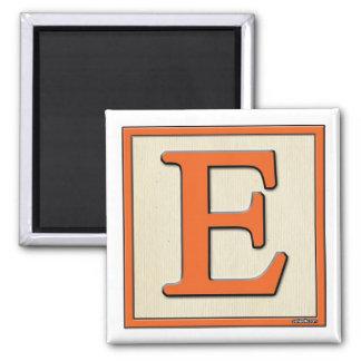Classic Kids Letter Block E Square Magnet