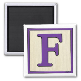 Classic Kids Letter Block F Square Magnet