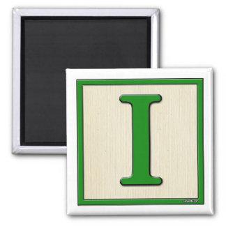 Classic Kids Letter Block I Square Magnet